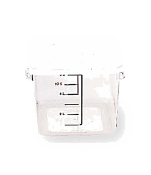 "Lid, 8-3/4"" x 8-5/16"", square, snap-tight fit, polyethylene, white, NSF, (fits 6"