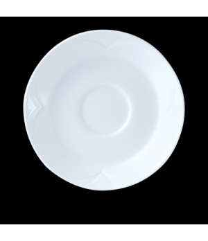 "Saucer, 6"" dia., round, single well, Distinction, Bianco, Bianco White (Canada s"