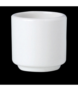 "Egg Cup, 1-7/8"", footless, vitrified china, Performance, Simplicity, Black Line"