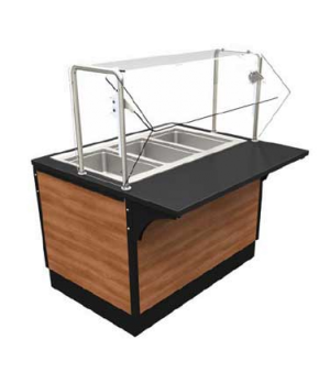 """V-Class Series Hot Station, 36""""W x 44""""D x 34""""H, stainless steel structural frame"""