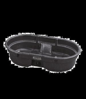 Stock Tank, 50 gallon capacity, structural foam, black