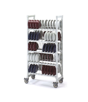 "Camshelving® Dome Drying Cart, 36""x18""x75"", holds 100 10"" domes and/or pellet un"