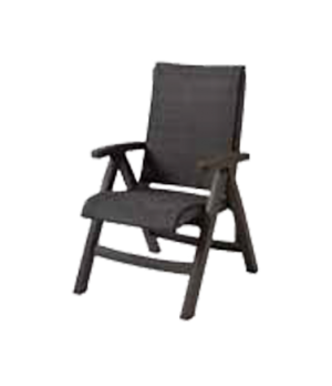 Java Folding Chair, designed for outdoor use, all weather wicker, bronze mist fr
