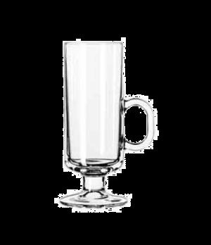 "Irish Coffee Mug, 8 oz., with handle, (H 6-3/8""; T 2-3/8""; B 2-3/4""; D 3-5/8"")"