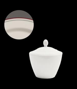 Madison Sugar Pot Lid, vitrified china, Performance, Simplicity, Cabernet (UK st