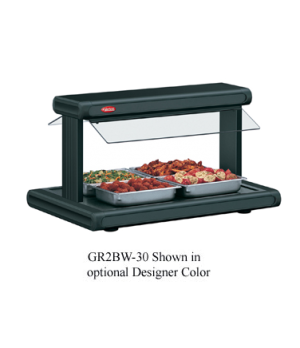 Glo-Ray® Buffet Warmer, counter model, pass thru design, hardcoat aluminum heate