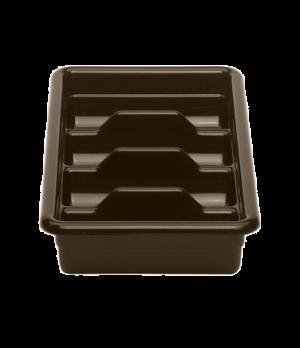 """Cambox® Cutlery Box, 4 compartment, 11-3/8""""L x 20-7/16""""W x 3-3/4""""H, hi-gloss pla"""