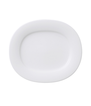 "Plate, 8-1/2"" x 7-1/2"", oval, premium porcelain, Affinity"