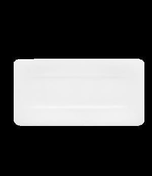 "Plate, 13-3/4"" x 7"", rectangular, premium bone porcelain, Modern Grace"