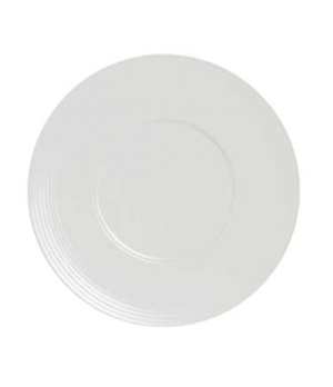 "Presentation Plate, 11-3/4"" dia. (6"" well), round, wide rim, porcelain, Rene Ozo"
