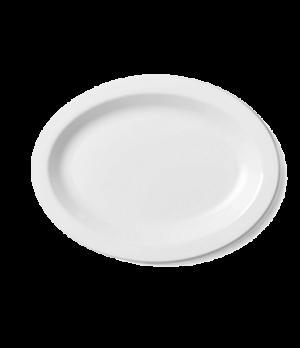 "Camwear® Platter, oval, narrow rim, 12"" x 9"", lightweight polycarbonate, non-por"