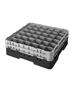 Camrack® Glass Rack, with 2 extenders, full size, low profile, 36 compartments,