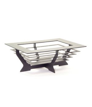 "Chafing Dish, 28"", rectangular, silver with silver steps, Brand Designs, Canyons"