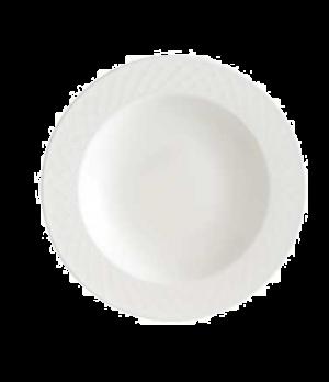 """Rim Soup Plate, 11-3/8"""", 22 oz., deep, premium porcelain, Bella"""
