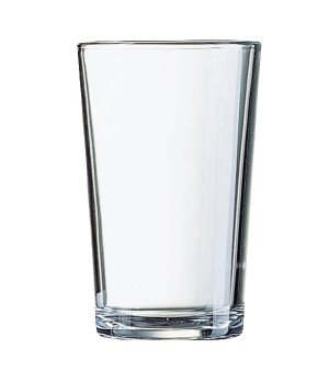 "Tumbler Glass, 6-3/4 oz., fully tempered, glass, Arcoroc, Conique, (H 4-1/8""; M"