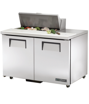 "ADA Compliant Sandwich/Salad Unit, (8) 1/6 size (4""D) poly pans, stainless steel"