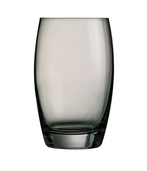 "Tumbler Glass, 11-3/4 oz., grey, glass, Arcoroc, Salto, (H 4-3/4""; M 3"")"