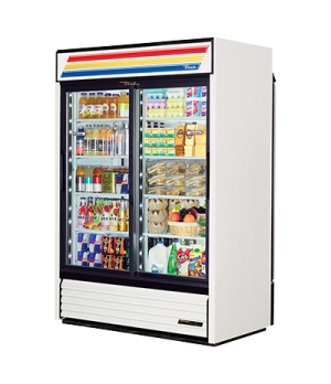 Refrigerated Merchandiser, pass thru, two-section, (8) shelves, powder coated st