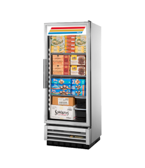 Freezer, Reach-in, -10° F, one-section, glass door, stainless steel front, alumi