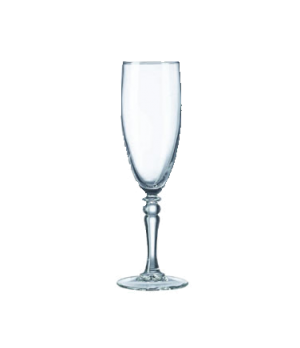 Champagne Flute Glass, 5-3/4 oz., fully tempered, glass, Arcoroc, Siena (H 7-3/4