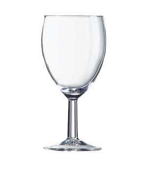 "Wine Glass, 8 oz., glass, Arcoroc, Savoie, (H 5-3/4""; M 2-7/8"")"