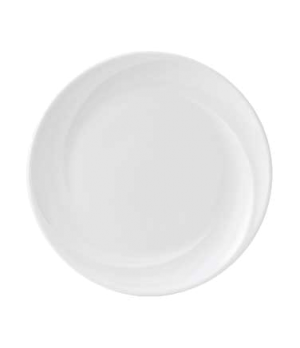 "Solar Plate, 10.7"" dia., round, dishwasher safe, bone china, white"