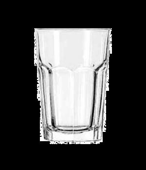"Beverage Glass, 14 oz., DuraTuff®, GIBRALTAR®, (H 5-1/8""; T 3-1/2""; B 2-3/4""; D"