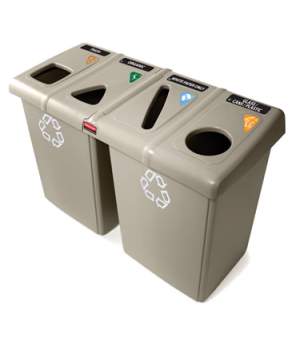"""Glutton® Recycling Station, 53""""W x 23.5""""D x 35.3H, holds up to 92 gallons, inclu"""
