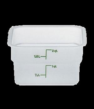 """CamSquare® Food Container, 2 quart, 7-1/4"""" x 7-1/4"""" x 3-7/8"""", translucent, green"""