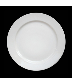 "Allure Plate 12"" dia. (8"" well), round, bone china, Tria (minimum = case quantit"