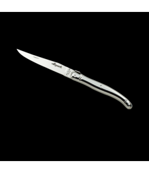 "Steak Knife, 9"", 2.5 mm, sharpened, with guill, stainless steel handle, Laguiole"