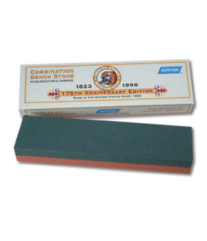 Replacement Sharpening Stone, India bench coarse/fine aluminum oxide combination