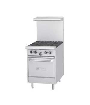 "G Starfire Pro Series Restaurant Range, gas, 24"", (2 33,000 BTU open burners, wi"