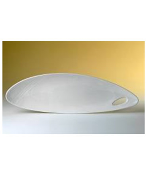 "Platter, 20-1/4"" dia., oval, Distinction, Organic, Organics White (priced per ca"