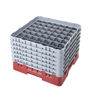 """Camrack® Glass Rack, with 6 extenders, full size, 49 compartments, 2-7/16"""" max."""