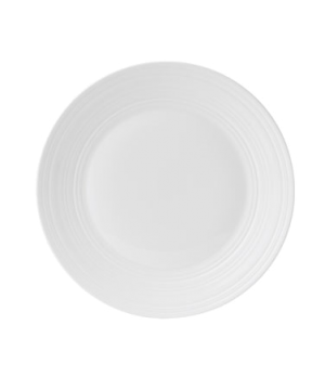 "Jasper Conran Strata Plate, 11"" dia., round, wide rim, embossed, dishwasher safe"