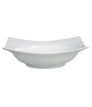 "Ethereal Serving/Pasta Bowl, 9"", square, dishwasher safe, bone china, white"