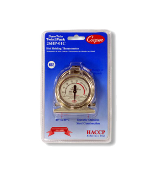 Proofing/Holding Cabinets Thermometer, HACCP reference dial and colored holding