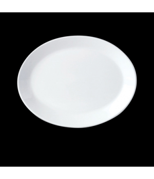 "Platter, 12"", coupe, oval, vitrified china, Performance, Ivory, Claret (UK stock"