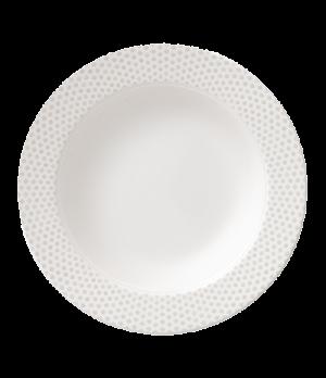"""Plate, 9-1/8"""" (23cm), deep, salamander/microwave/dishwasher safe, premium porcel"""
