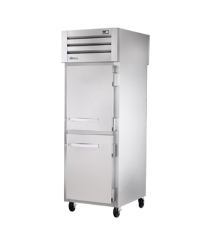 SPEC SERIES® Pass-thru Refrigerator, one-section, stainless steel front/sides, (