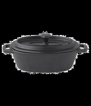 "Casserole Dish, 8-1/2 oz. (251ml), 5"" x 3-1/2"" (12.4 cm x 9-1/2 cm), oval, handl"