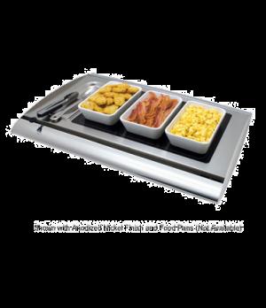 Serv-Rite® Portable Buffet Warmer, digital temperature control, heated glass, re
