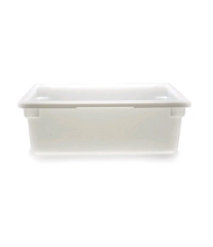 "Food Storage Container, 18"" x 26"" x 9"", 13 gallon capacity, natural white, polye"