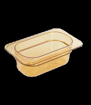 "H-Pan™, 1/9 size, 2-1/2"" deep, hi-temp plastic, polysulfone, non-stick surface,"
