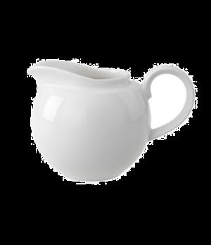 Creamer Globe, 17 oz., creamer, with handle, premium porcelain, Universal