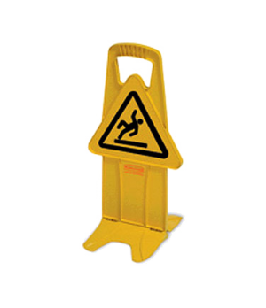 "Stable Safety Sign, International Wet Floor symbol, 13"" warning triangle, ""no-ti"