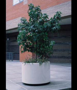 "Return Rim Planter, 11""OD x 8-1/2""ID x 11""H, round, fiberglass, indoor/outdoor,"