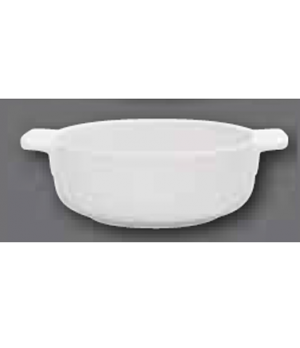 "Individual Bowl, 6"" dia., round, with handles, oven, microwave and dishwasher sa"