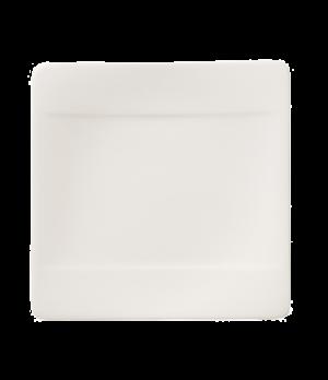 "Bread & Butter Plate, 6-1/4"" x 6-1/4"", square, premium bone porcelain, Modern Gr"